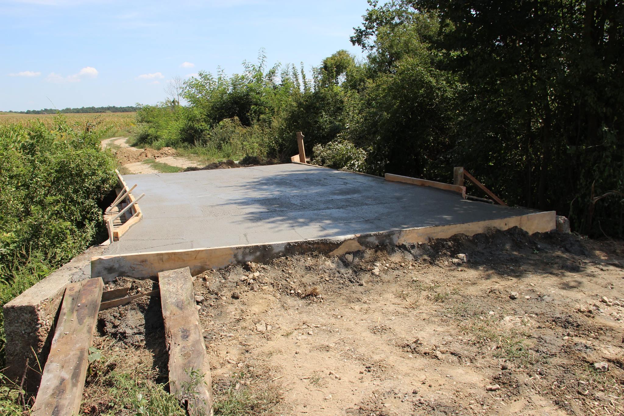 Obnova mosta u mjestu Ladinec