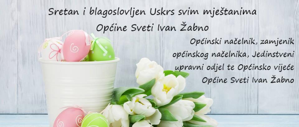 Sretan i blagoslovljen Uskrs svim mještanima Općine Sveti Ivan Žabno